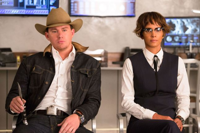 Agents-Tequila-Channing-Tatum-left-and-Ginger-Ale-Halle-Berry-are-among-Statesmans-finest-in-Kingsman-The-Golden-Circle.-